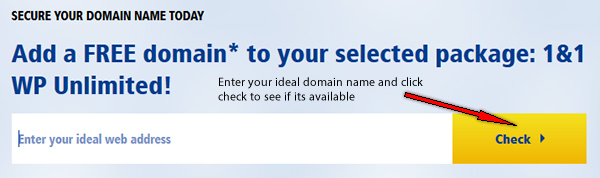 1&1 Add Free Domain Name