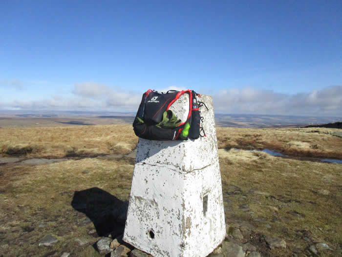Salomon Advanced Skin Hydro S-Lab 5 Set on Buckden Pike Trig Point