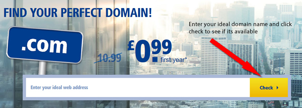 Find your perfect domain name with 1&1