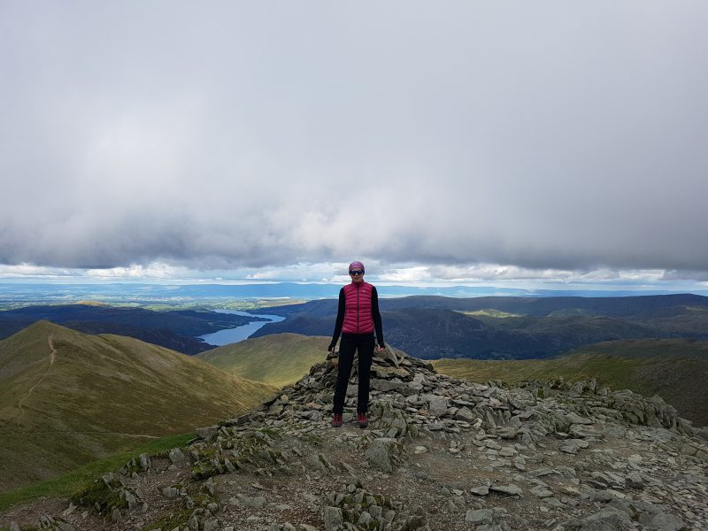 Cairn at the top of Swirral Edge
