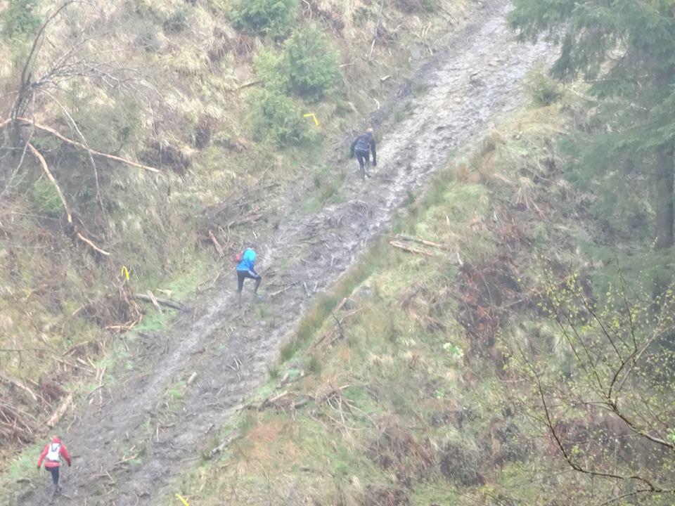 Hardmoors White Horse Trail Marathon Steep Climb