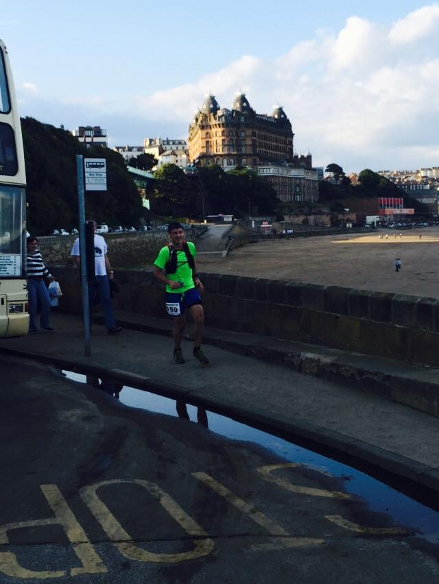 Hardmoors 60 Ultra Marathon - Scarborough checkpoint