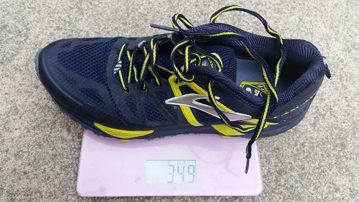 Brooks Cascadia 10 Weight: 349g for UK size 8.5