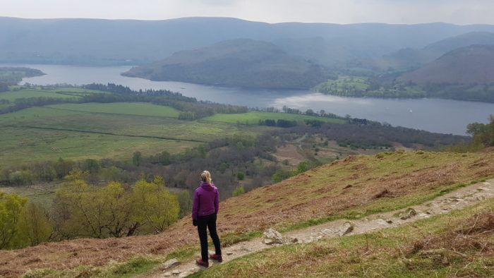 Looking out over Ullswater near Memorial Seat