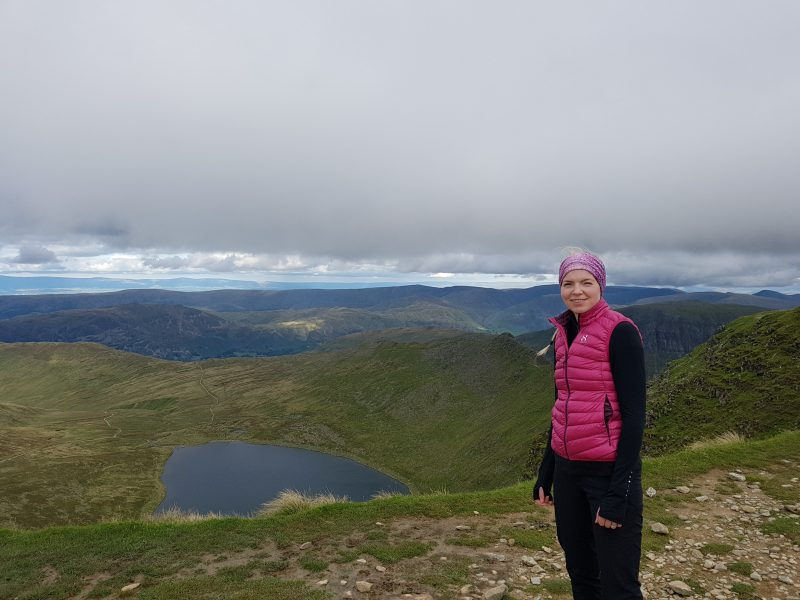 Red Tarn, Striding Edge and the formidable St Sunday Crag